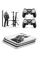 Набор наклеек с логотипом Ведьмак Геральт (Witcher) для приставки Sony Playstation 4 PRO купить