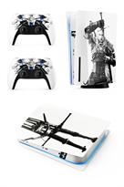 Набор наклеек с логотипом Ведьмак Геральт (Witcher) для приставки Sony Playstation 5 купить