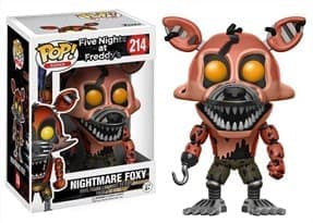 Фигурка Кошмарный Фокси (Nightmare Foxy) из игры Five Nights at Freddy Funko pop #214