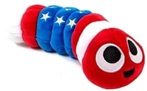 Slither.io плюшевая гусеница в цветах американского флага купить