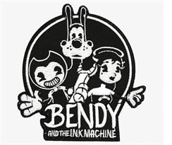 Нашивка Бенди, Борис и Алиса (BENDY AND THE INK MACHINE GROUP PATCH) купить в Москве
