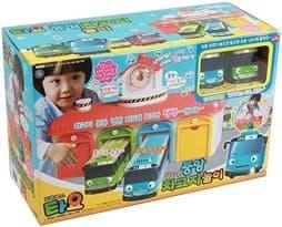 Игровой набор главный гараж Тайо из мультфильма Тайо маленький автобус со звуком на сайте Super01.ru
