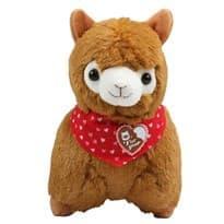 Плюшевая коричневая альпака купить в Москве