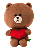 Плюшевая игрушка Браун (Brown Line Friends) 25 см купить в Москве