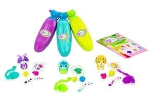 Набор Банановые игрушки голубой, зеленый и пурпурный (Bananas Collectible toys) купить в Москве