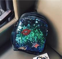 Рюкзак с пайетками (зеленый) купить