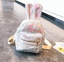 Рюкзак с пайетками (белый с ушками) купить