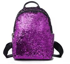 Рюкзак с пайетками (большой пурпурный - белый) купить