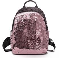 Рюкзак с пайетками (большой серебряный - белый) купить