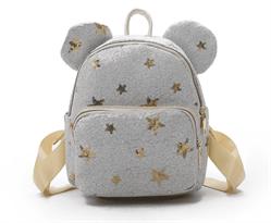Рюкзак с пайетками (белый с маленькими ушками) купить в Москве