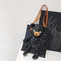 Сумка с пайетками (в форме медведя черная) купить в Москве
