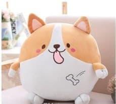 Мягкая игрушка Корги круглая (Плюшевая) 35 см