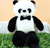 Плюшевая панда с бабочкой 50 см купить