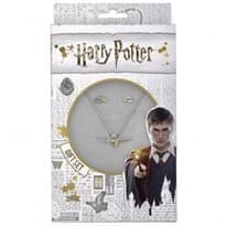 Подарочный набор ожерелье и сережки (Золотой Снитч Гарри Поттер) из серебра