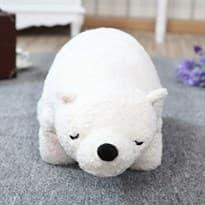 Большой плюшевый белый медведь 70 см купить