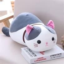 Большая плюшевая игрушка кошка - подушка 70 см купить