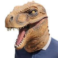 Маска коричневого динозавра купить в Москве