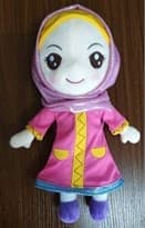 Мусульманская Кукла в розовой хиджабе (30 см)