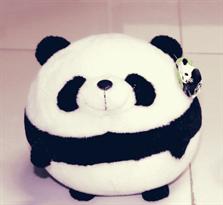 Плюшевая круглая панда 40 см купить