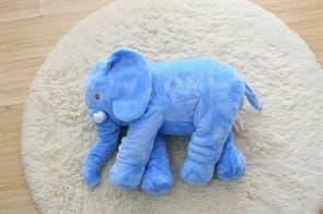 Мягкая Игрушка Подушка Слон (синий) купить