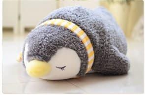 Купить мягкую игрушку подушку спящий пингвин в Москве