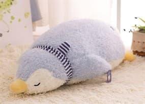 Плюшевый серый Пингвин-подушка (серый 55 см) купить