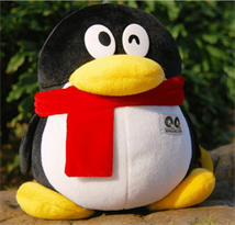 Плюшевый Пингвин (с красным шарфом 30 см) купить