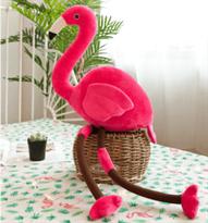 подушка розовое фламинго