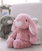 ушастый розовый зайка