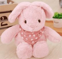 розовый зайка в шарфике