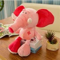 плюшевая игрушка розовый слоник