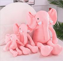 плюшевый розовый слоник с большими ногами