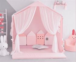 прикольная розовая палатка