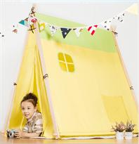 Жёлтая детская палатка