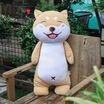 Мягкая игрушка собака Шиба Ину, 60 см