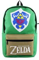 Зеленый рюкзак Легенда о Зельде с логотипом игры и надписью The Legend of Zelda