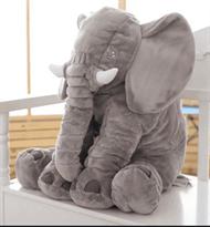 плюшевая игрушка слон серый 50 см купить