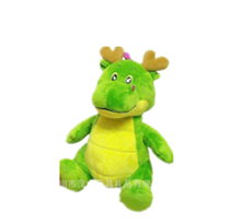 Плюшевая игрушка зеленый дракон (15 см)