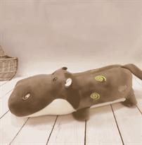 Подушка коричневый Бегемот с узорами (38 см) купить