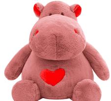 Плюшевая игрушка Бегемот со сердцем (50 см)