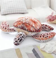 Плюшевая подушка-игрушка Черепаха 55 см (Коричневая)