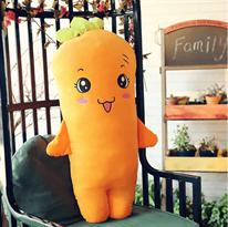Плюшевая игрушка желтая милая морковь (50 см)