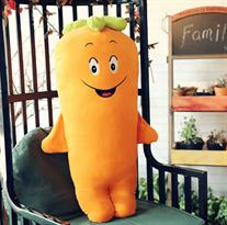 Плюшевая игрушка желтая смеющаяся морковь (50 см)