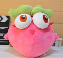 Розовая игрушка-подушка морковь (25 см)