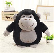 Плюшевая подушка-игрушка горрилы 45 см (черная)