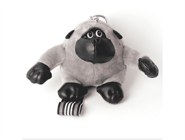 Серый брелок обезьяна (15 см)