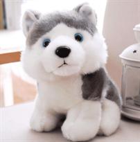 Мягкая игрушка собака хаски (23 см) купить в Москве