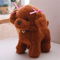 Мягкая игрушка рыжая кучерявая собака (25 см)