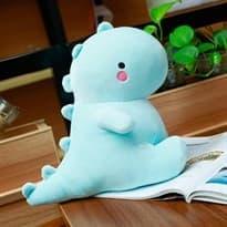 Плюшевая игрушка голубой динозавр купить