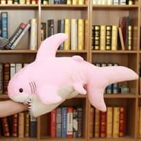 Плюшевая розовая зубастая акула купить